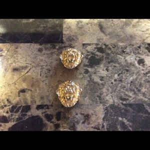 Kenneth j Lane vintage lions head earrings